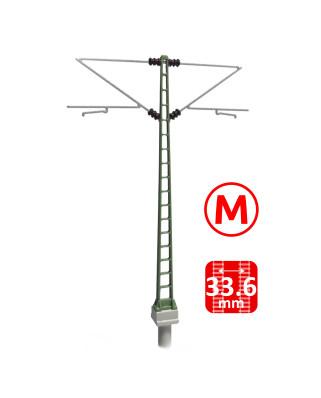 DB - Poste con doble ménsula Re160 - M (3+3 uds.)