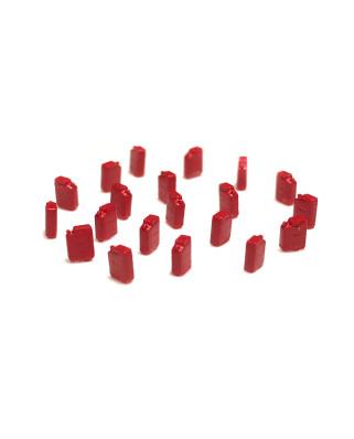 Bidones de combustible (20 unidades) - rojo