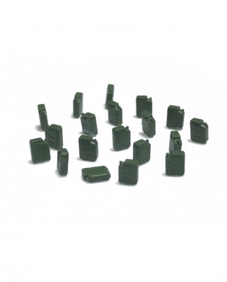 20 fuel jerrycans - green