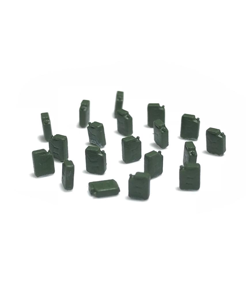Bidones de combustible (20 unidades) - verde