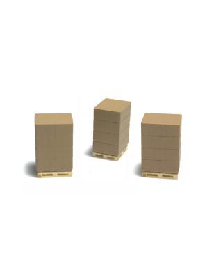 3 palés con paquetes