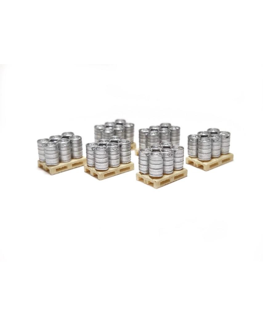 Barriles de cerveza en palé (6 unidades)