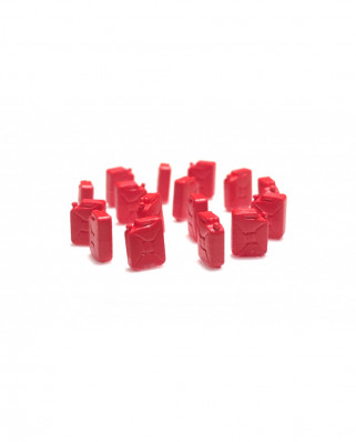 Fuel jerrycans (16 units) - red