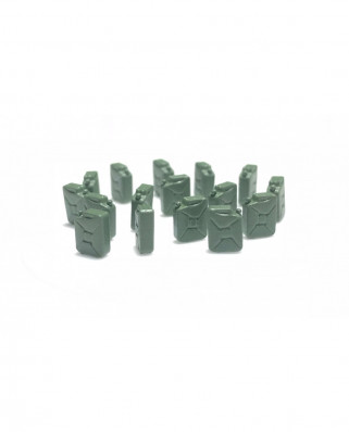 Fuel jerrycans (16 units) - green