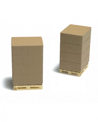 2 pallets with parcels