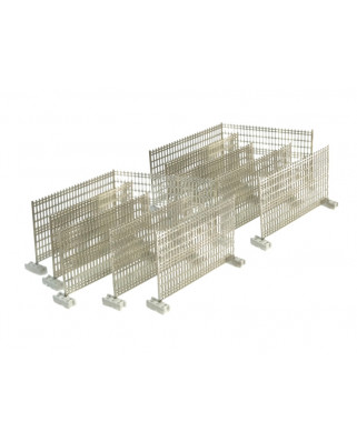 Temporary fences with concrete feet (12 units)