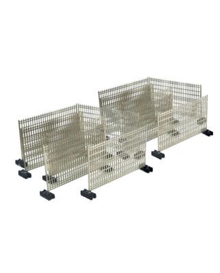 Clôtures temporaires avec pieds en plastique (12 unités)