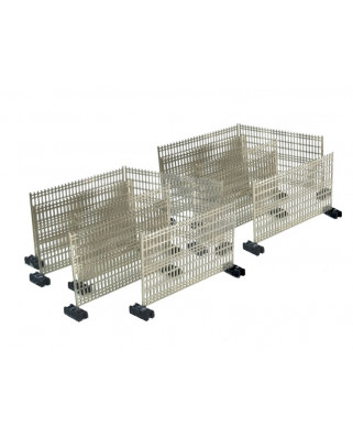 Temporary fences with plastic feet (12 units)