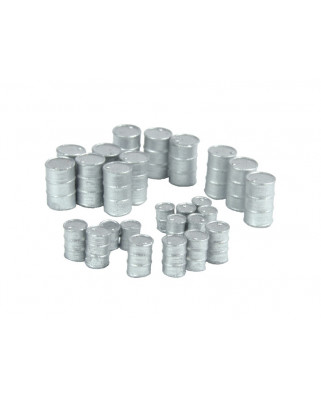 Metallfässer (26 St.) - Silber