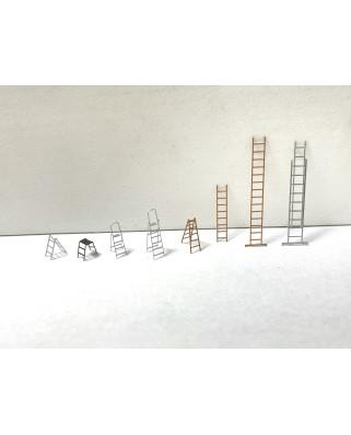 Set mit verschiedenen Leitern