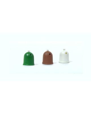 3 contenedores de reciclaje de vidrio - iglú
