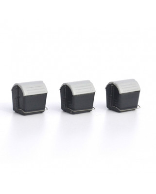 3 contenedores modernos con palanca