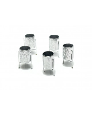 H0 | 5 metal bins (silver)