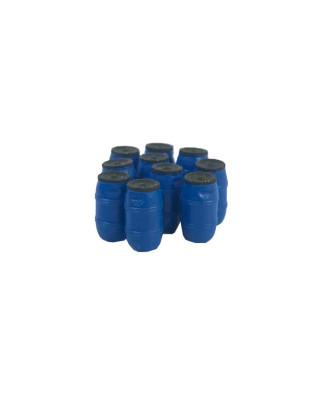 10 barriles de plástico 220 L. (azul)