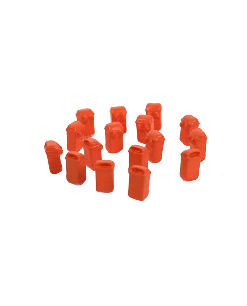 16 poubelles pendues - orange