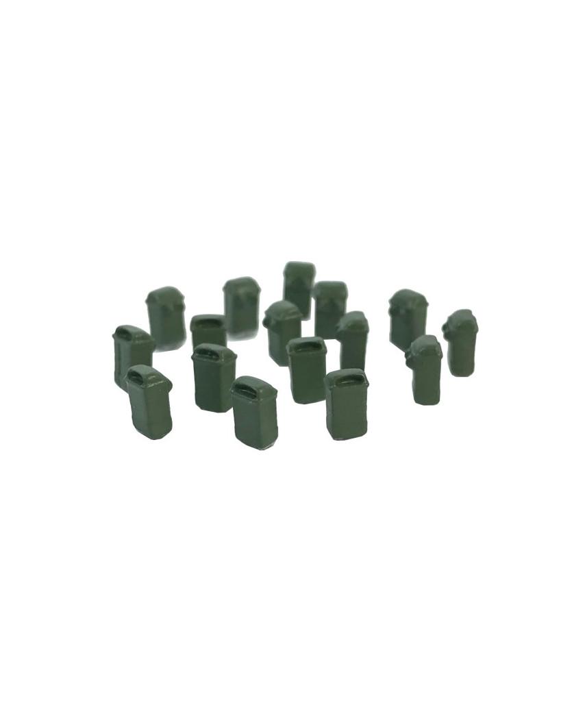 16 papeleras colgantes (verde oliva)