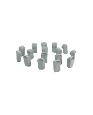 16 papeleras colgantes (gris)